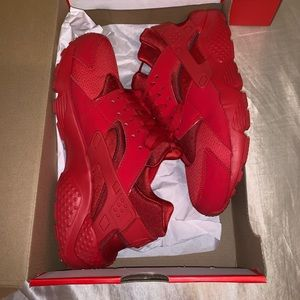 Nike red huaraches
